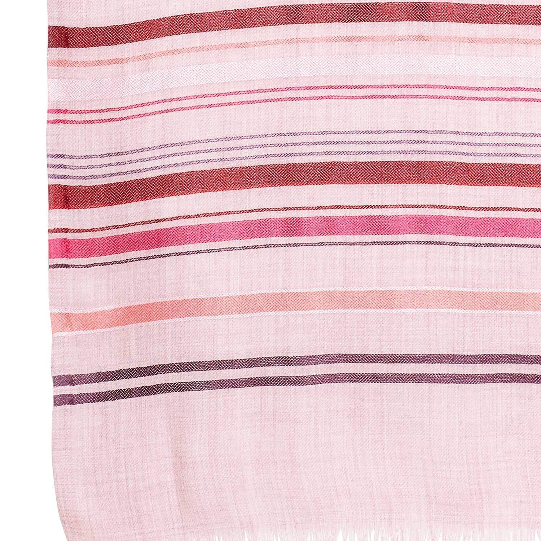 PARIJAT HANDICRAFT Handmade Women Scarf 75% Wool 25% Silk Neck Stole Wrap Warm Soft Light,27X74 Inch,130 Grams(Light Pink)