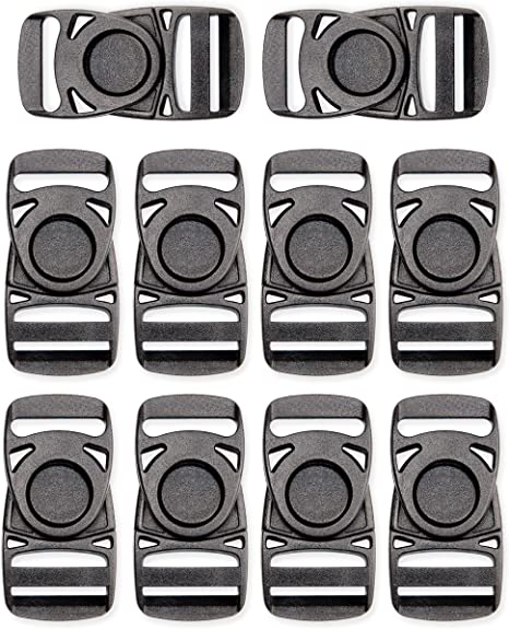 Ailisi 1 Inside Width Plastic Center Release Buckles for Backpack Straps Webbing Strapping Pack of 6
