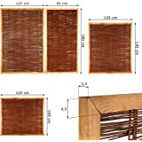 haselnuss zaun als flechtzaun im ma 180 x 80 cm breite x h he als garten zaun natur aus. Black Bedroom Furniture Sets. Home Design Ideas