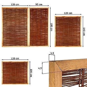 Weidenzaun Sichtschutz Element In 4 Grossen Hohe X Breite 180 X