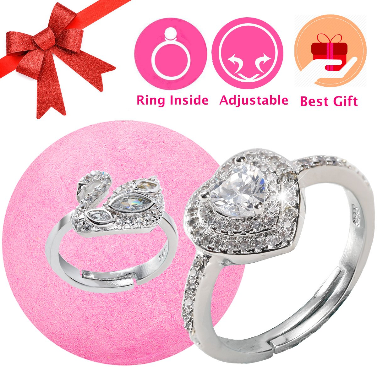 Amazon.com: Bath Bomb with Surprise Ring Prizes Inside for Women ...