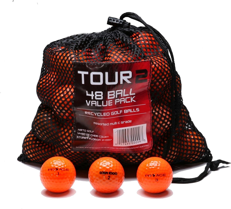 Various Brands Recycled B Grade Golf Balls in Mesh Bag 48 Pack