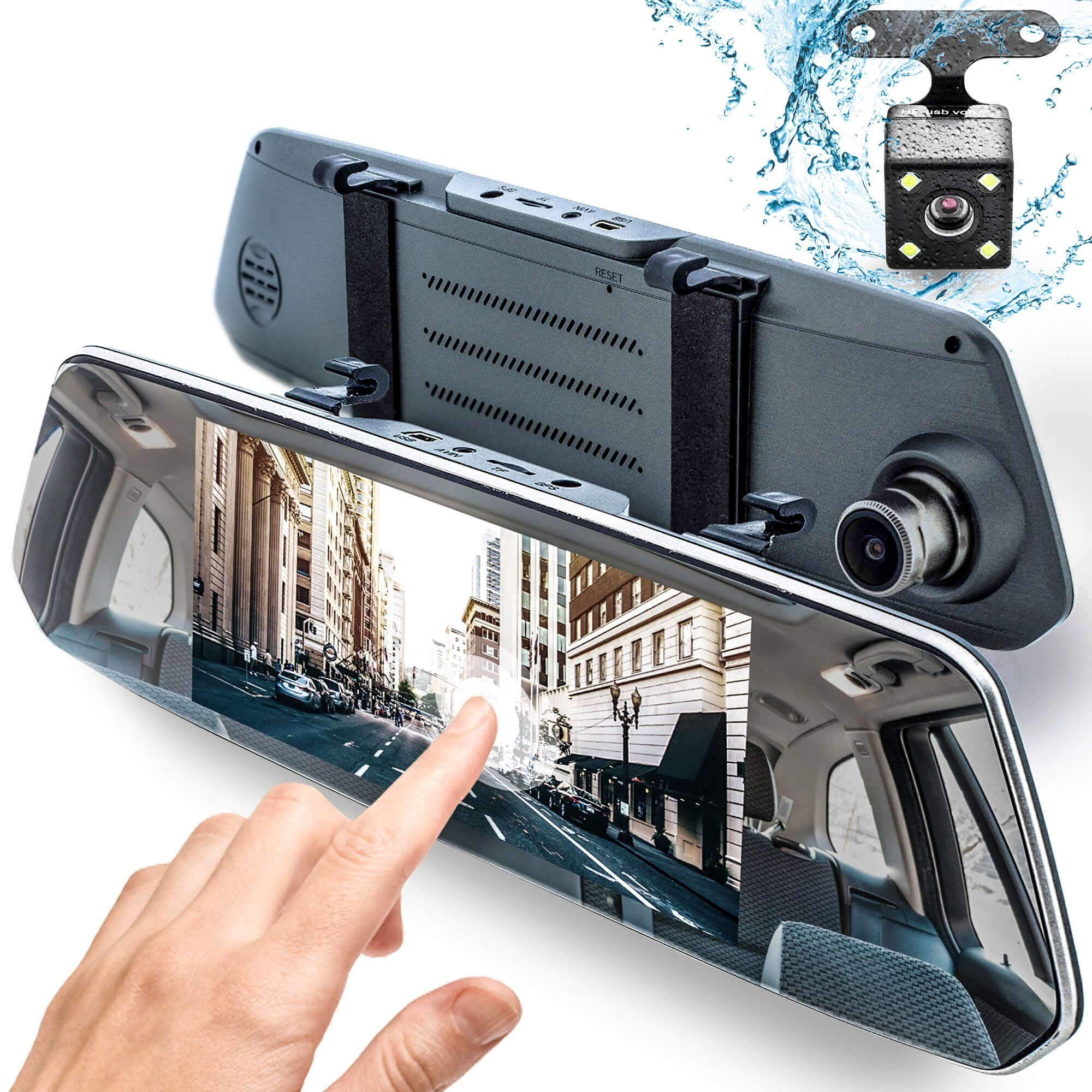 Rear View Mirror Dash Cam 1080P - 7'' IPS Touch-Screen - Protect Your Comfort on a Road - by Dr.Smartec by Dr.Smartec