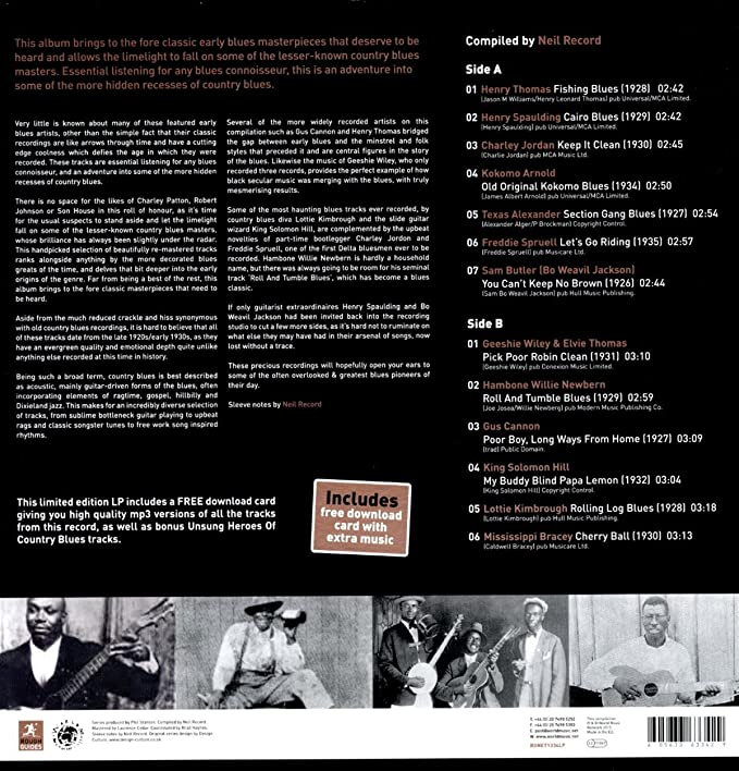 The Rough Guide To Unsung Heroes Of Country Blues [VINYL]: Amazon co