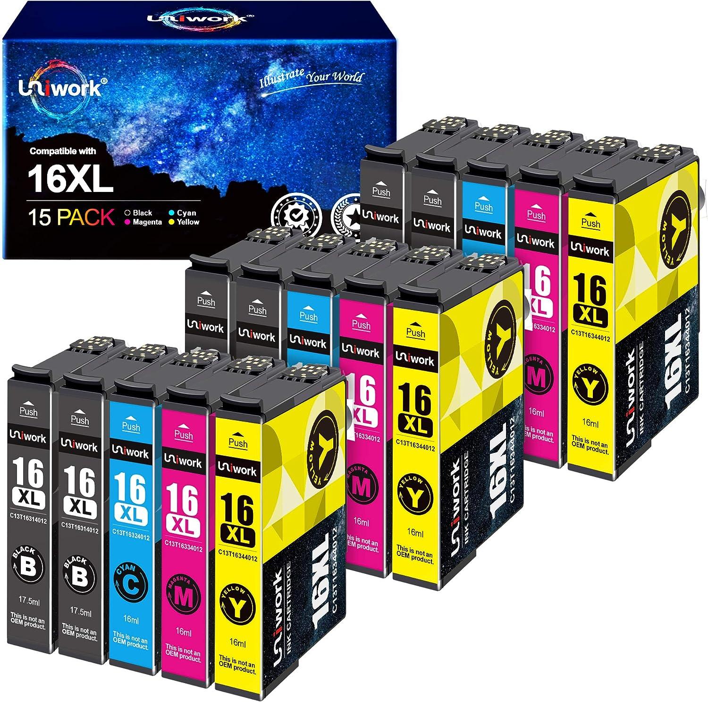 Uniwork Compatible Ink Cartridges For Epson 16 16xl 16 Xl 6 Black 3 Cyan 3 Magenta 3 Yellow Bürobedarf Schreibwaren