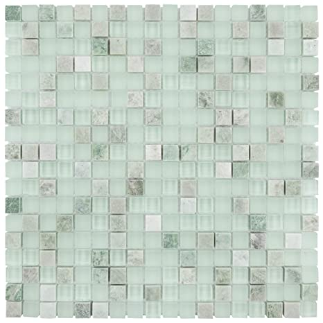 SomerTile GITMMM Sierra Mini Ming Glass and Stone Mosaic ...
