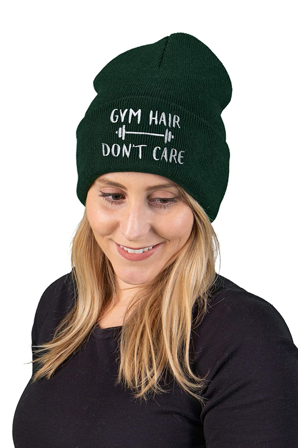 947d6c98da656 Funky Junque Embroidered Beanie Dog Mom Gym Sports Holiday Knitted Hat  Skull Cap