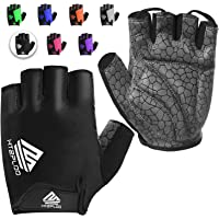 HTZPLOO Bike Gloves Bicycle Gloves Cycling Gloves Mountain Biking Gloves with Anti-Slip Shock-Absorbing Pad Breathable…