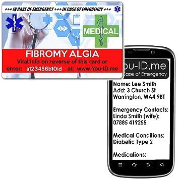Fibromialgia Medical de emergencia alerta de I.c.e. cartera de ...