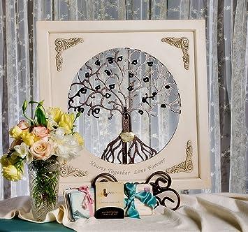 LoveLocks Tree Of Life Wall Decor With Love Lock Padlock (Ivory)