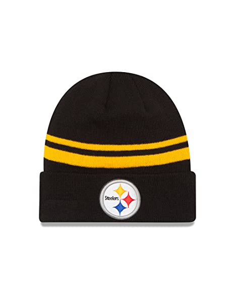 1ff5b8ee7 Image Unavailable. Image not available for. Color  New Era NFL Pittsburgh  Steelers Cuff Knit ...