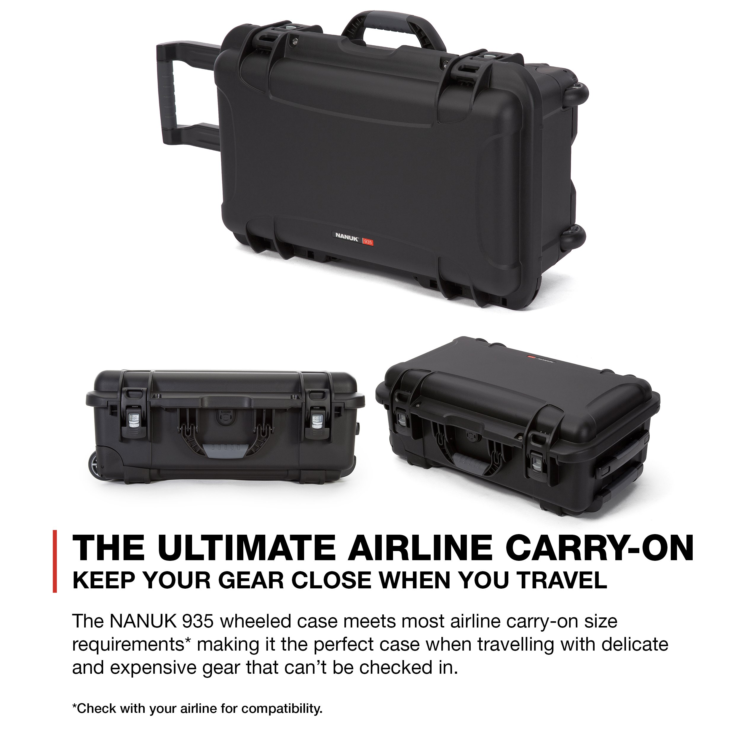 Nanuk 935 Waterproof Carry-On Hard Case with Wheels and Foam Insert - Black by Nanuk (Image #11)