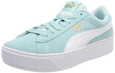 Puma Unisex-Kinder Vikky Platform Jr Sneaker, Pink (Paradise Pink White), 38.5 EU