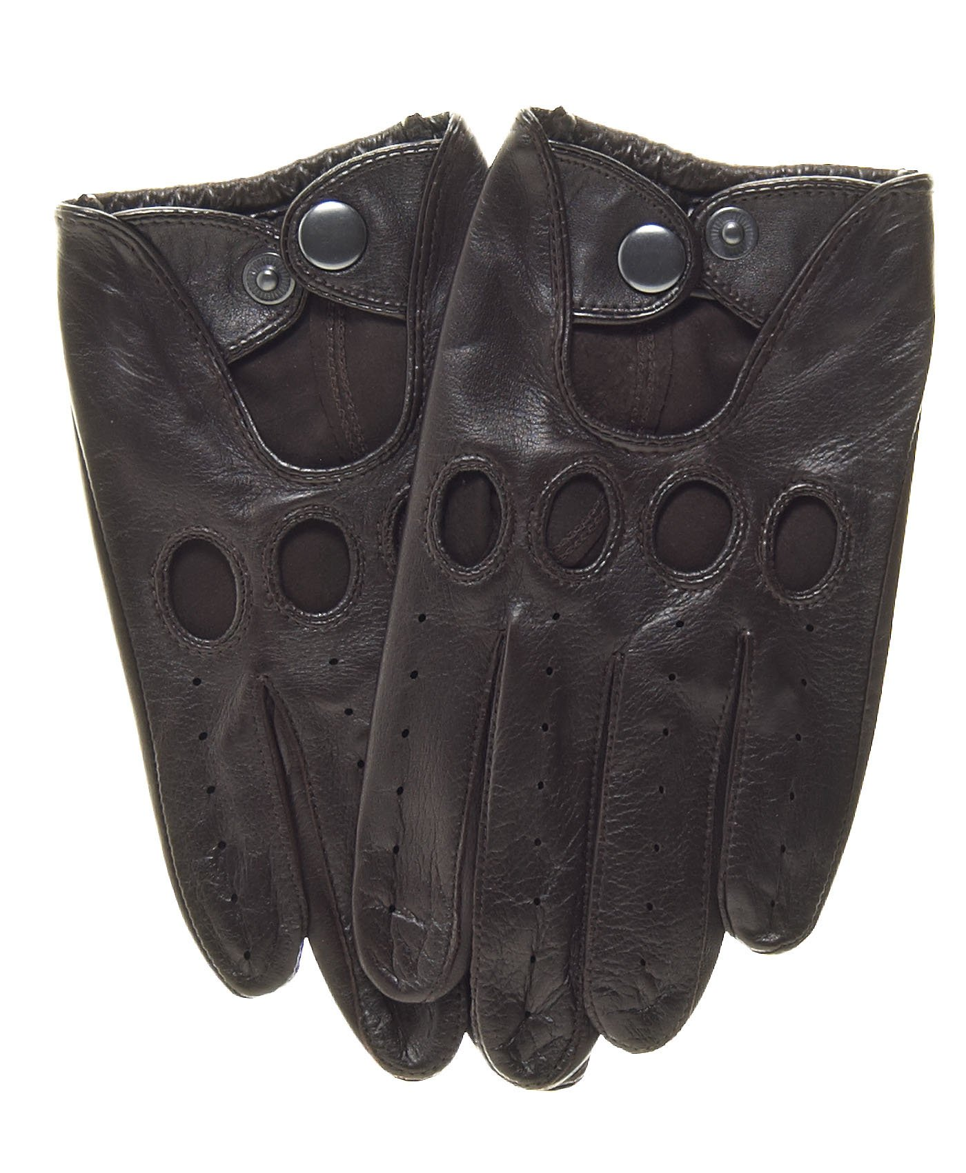 Pratt and Hart Touchscreen Leather Driving Gloves Size M Color Brown