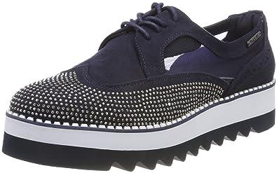 Bugatti 411411046400, Sneakers Basses Femme, Bleu (Blue), 42 EU