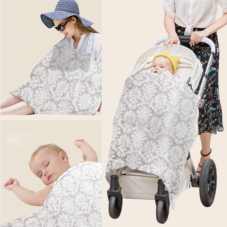 Cubierta De La Lactancia Del Bebé EarthSafe Bebé Cubiertas De Enfermería Bufanda De La Lactancia Materna (gris claro)