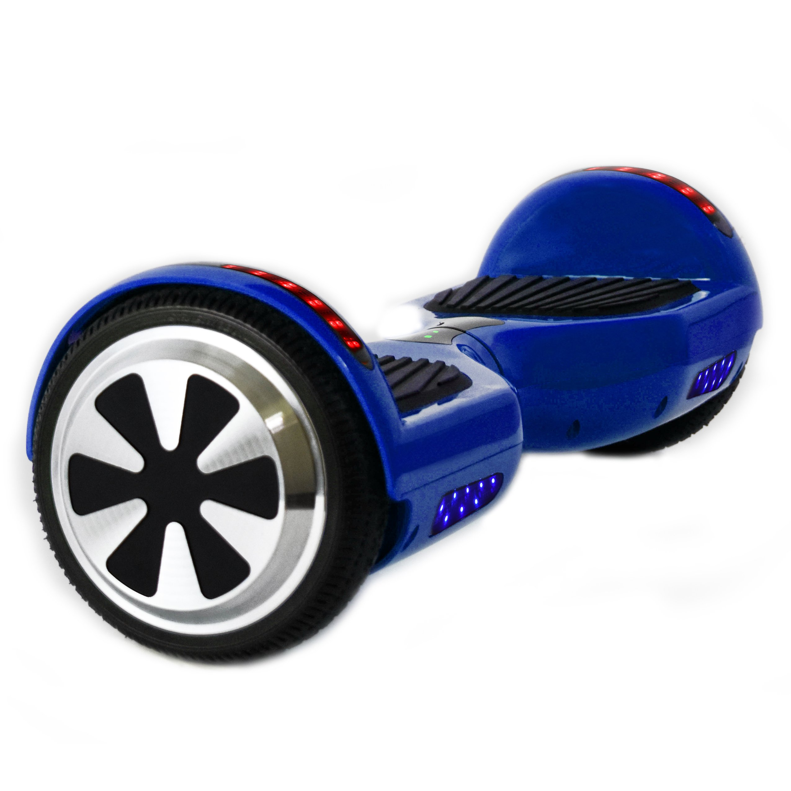 Hoverboard Two-wheel Self-balancing Scooter with Bluetooth Speaker and LED Lights - UL2272 Certified Hover Board with 6.5'' Aluminum Alloy Wheels,250W Dual Motor (Blue)