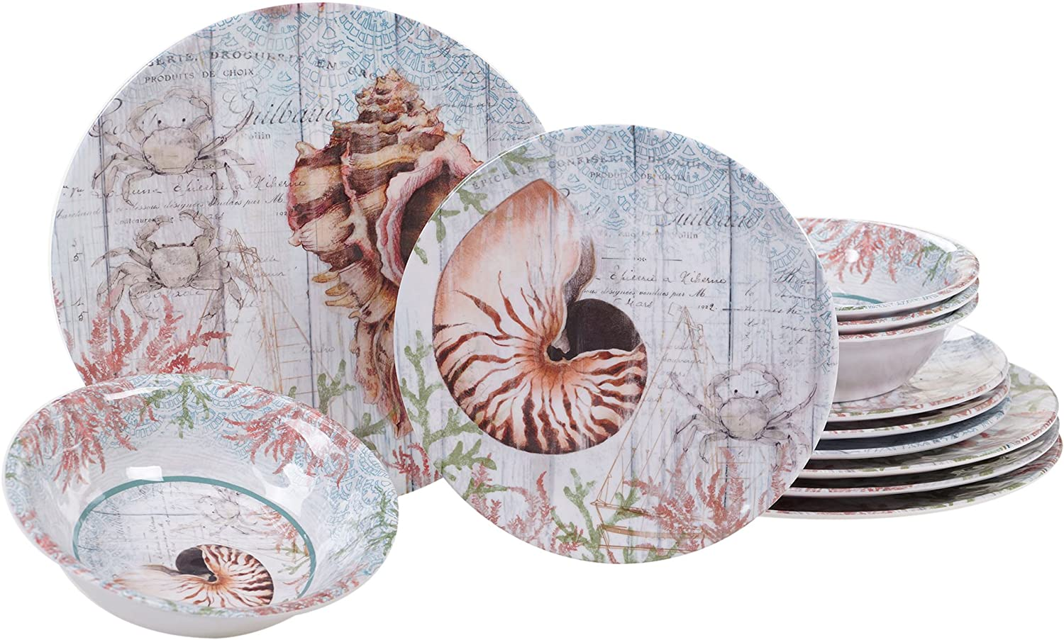 Certified International Sanibel Melamine 12 pc Dinnerware Set