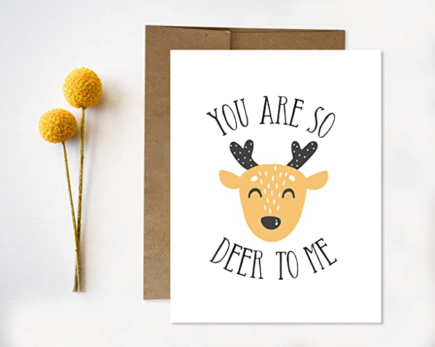 Amazon deer greeting card you are so deer to me handmade deer greeting card you are so deer to me m4hsunfo