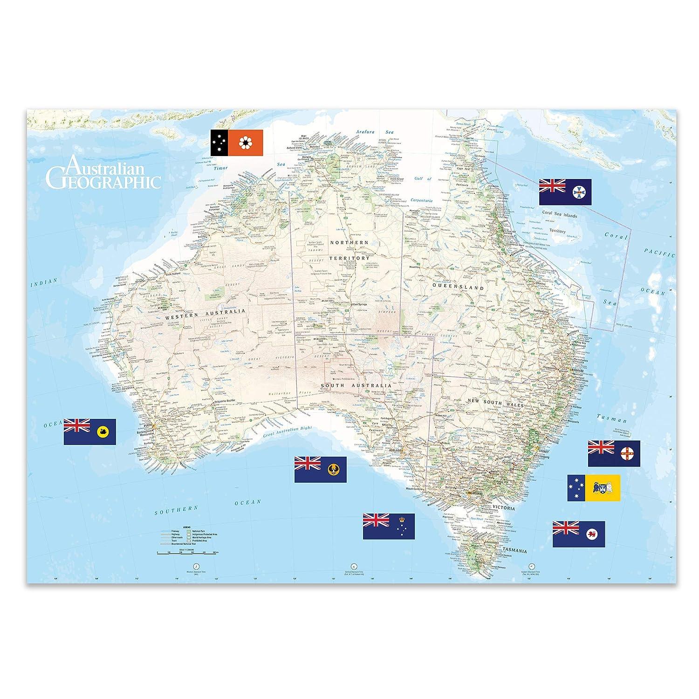 Map Around Australia.Scratch Off Australia Map Australian Geographic School