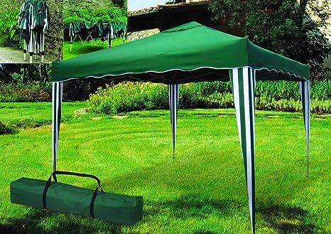 ITALFROM - Cenador telescópico Plegable de Exterior de 3 x 3 Metros, Color Verde, para acampadas, Playas, Jardines, etc.: Amazon.es: Hogar