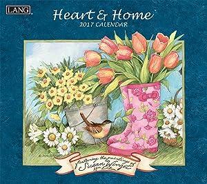 Lang 2017 Heart & Home Wall Calendar, 13.375 x 24 inches (17991001913)