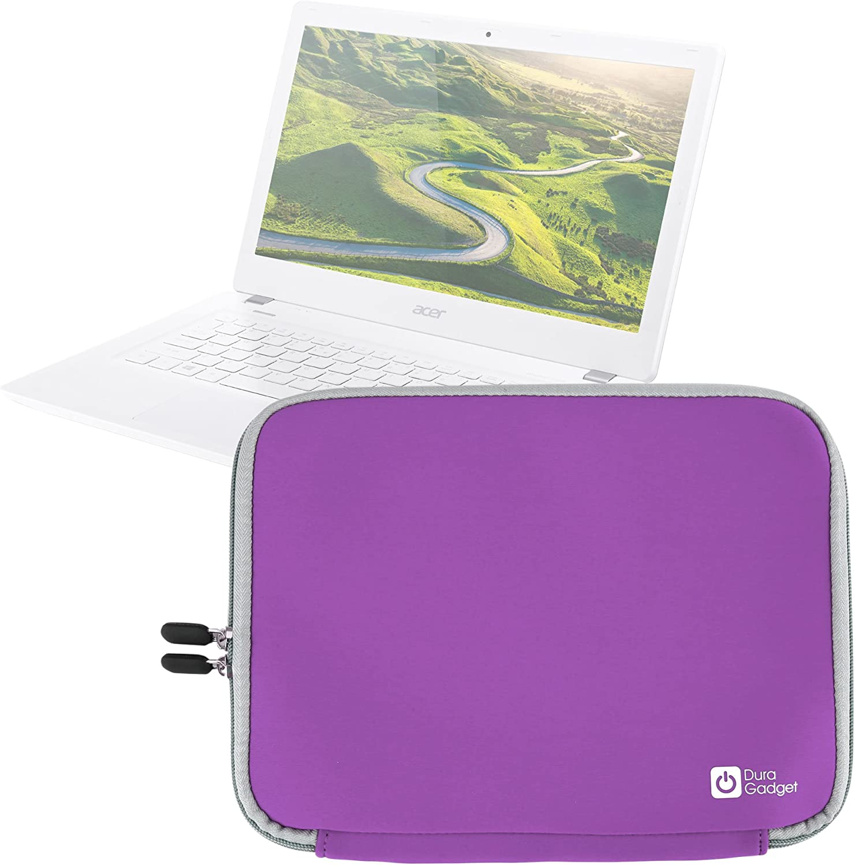 "DURAGADGET Purple 13"" Water & Shock Resistant Neoprene Carry Case - Suitable for Acer Aspire V 13 V3-372 Laptop"
