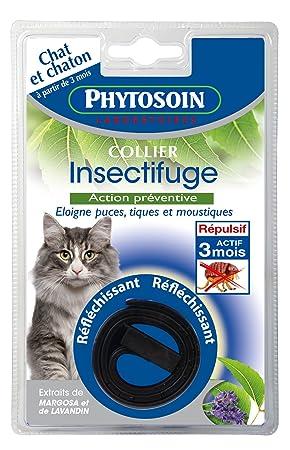 Phytosoin 095007 parásitos Collar para gatos, reflektierent: Amazon.es: Productos para mascotas