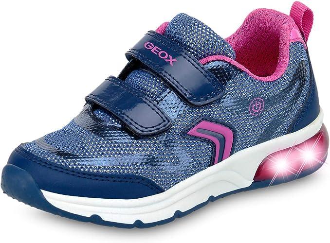 Geox J Spaceclub C, Sneakers Basses Fille: