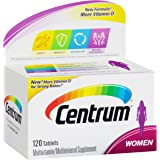 Centrum Women (120 Count) Multivitamin/Multimineral Supplement Tablet, Vitamin D3