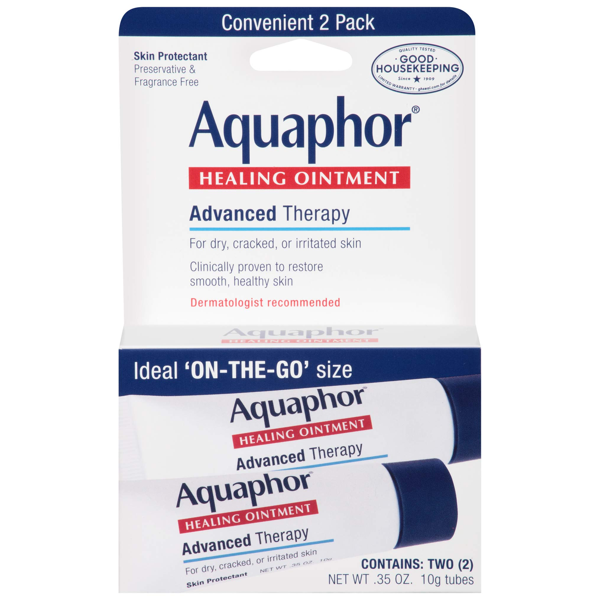 Aquaphor Healing Ointment - To Go Pack, Two 0.35 Oz Tubes