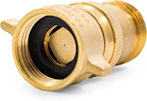 Camco (40055) RV Brass Inline Water Pressure Regulator- Helps Protect RV Plumbing and Hoses from High-Pressure City Water, Lead Free