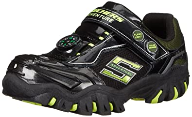 skechers shoes for boys. skechers kids damager ii-adventurer light-up sneaker (toddler), black/ shoes for boys u