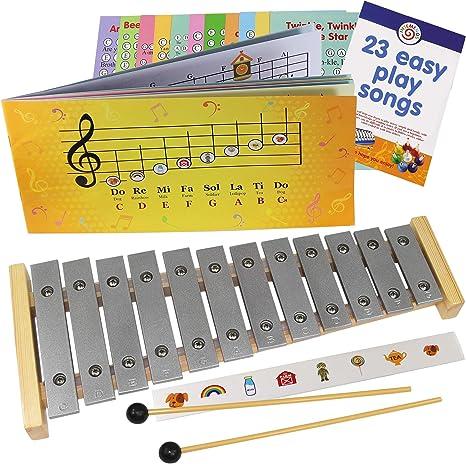 Glockenspiel 12 notas – Play-by-Pictures Xylophone hoja de música ...