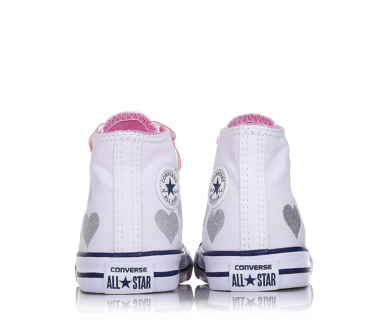 1615bdb3c0e8d2 Converse All Star Bambina 660971C White Sneaker Primavera/Estate: MainApps:  Amazon.it: Sport e tempo libero
