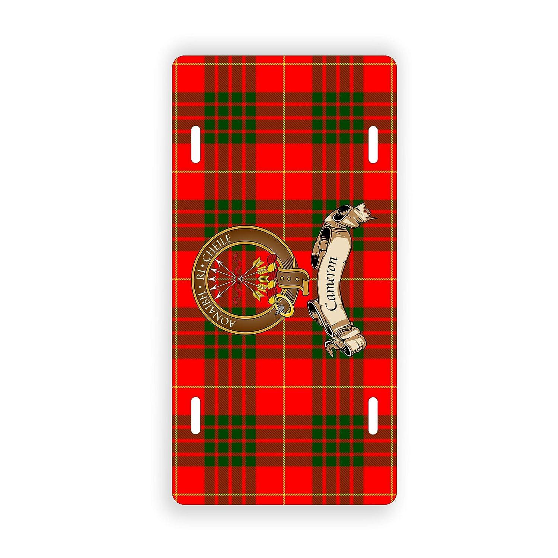 Cameron Scottish Clan Tartan Novelty Auto Plate