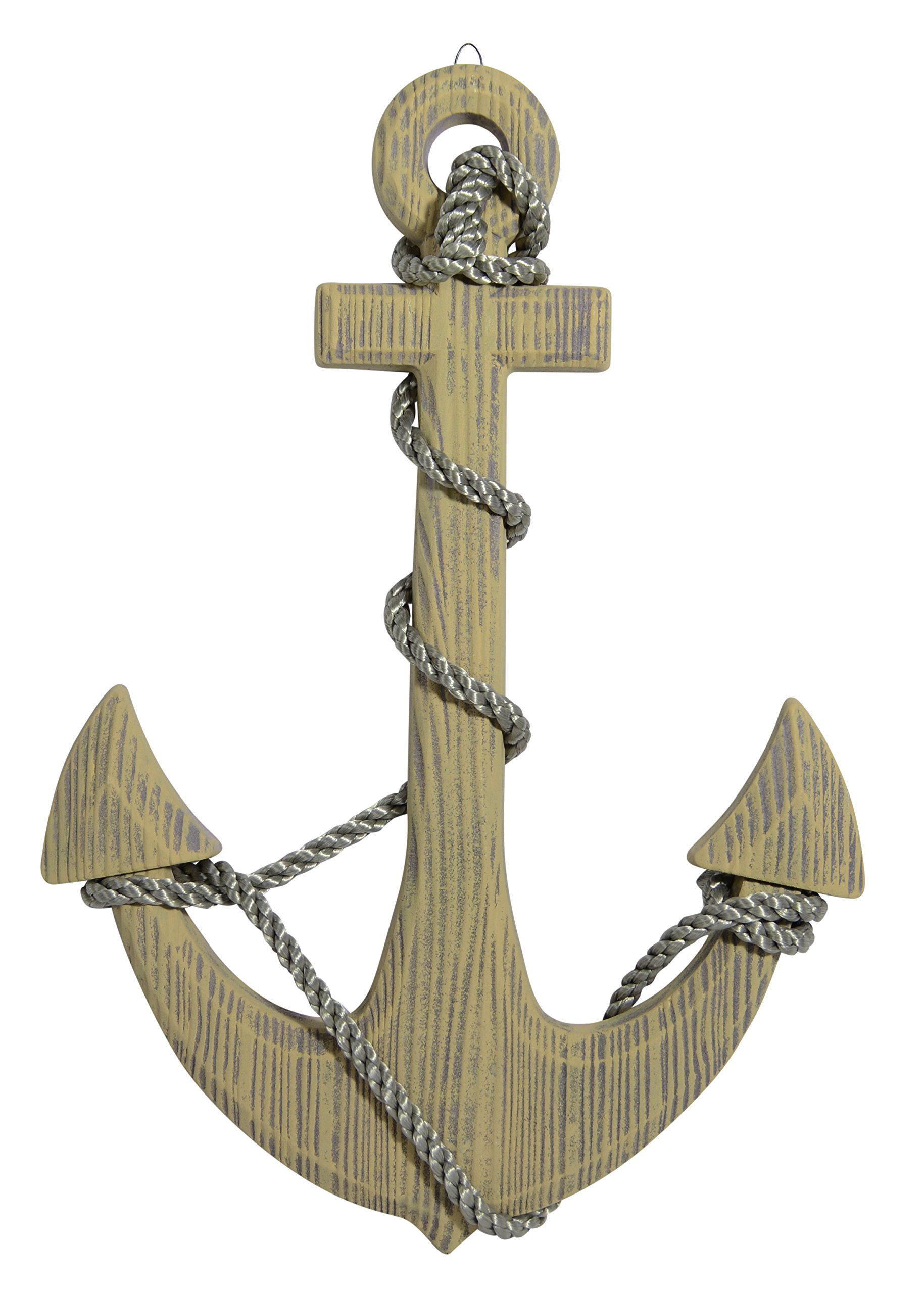 24 Inch Wood Look Boat Anchor With Crossbar