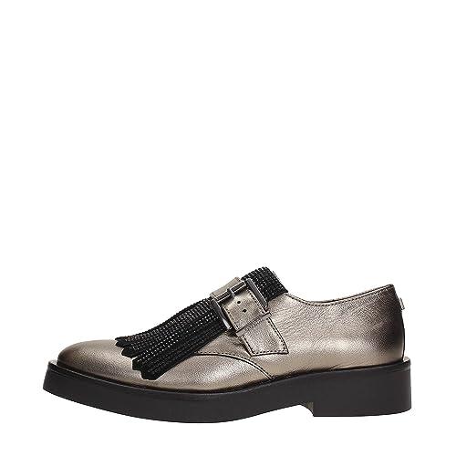 Guess Mujer Flan24lea13iron Mocasines dorado Size: 35: Amazon.es: Zapatos y complementos