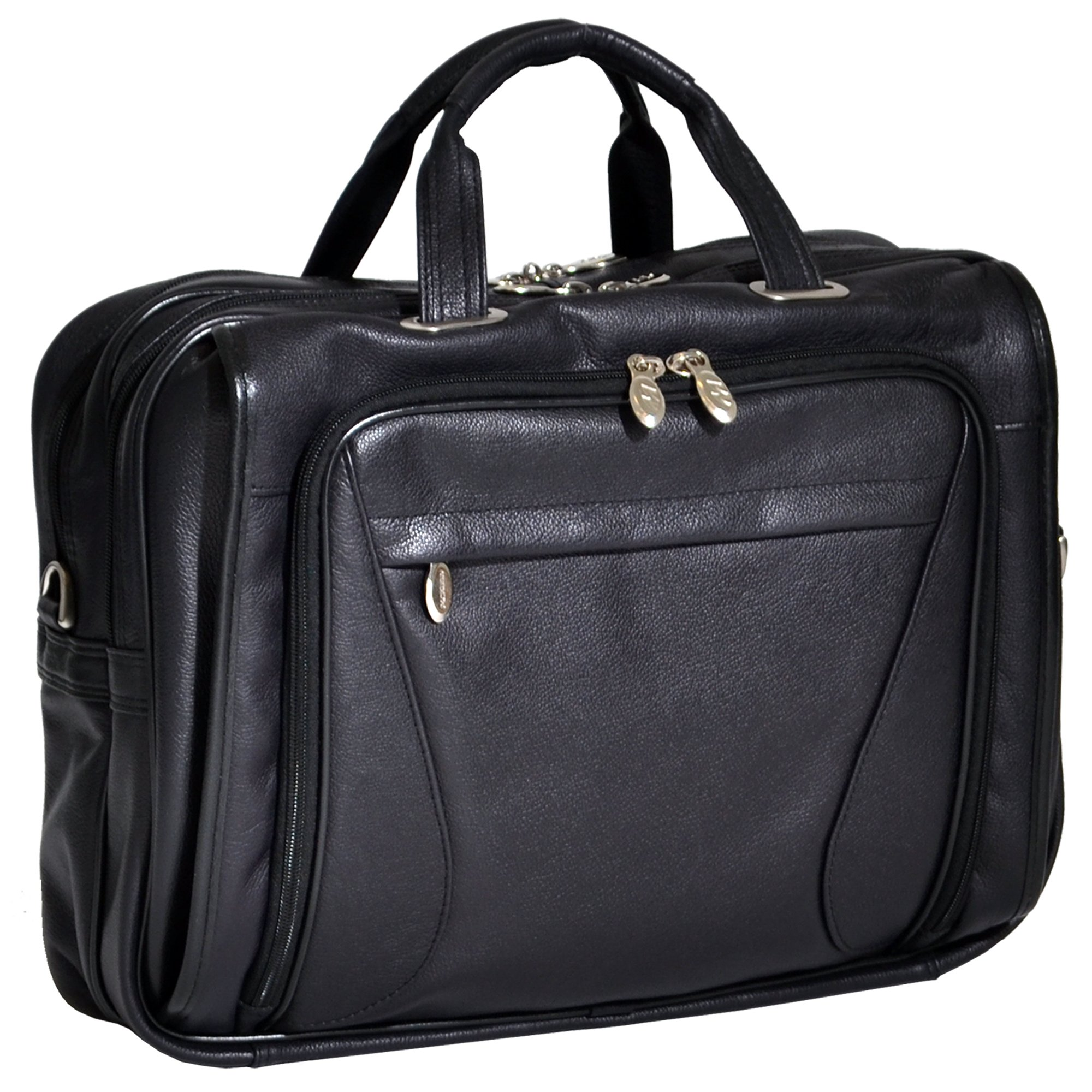 McKlein USA Irving Park Leather Double Compartment Laptop Case 15575 by Mcklein