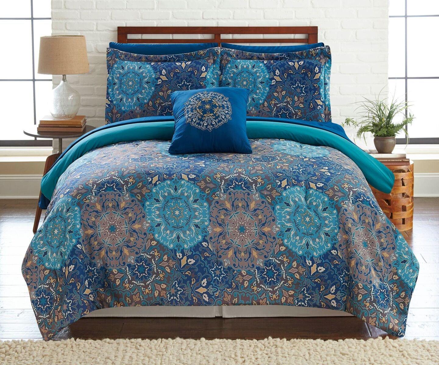 6 – または – 8点リバーシブル掛け布団セット、ウルトラソフト&低刺激性Complete Bedding Set by Pacific Coast Textiles ツイン 4BDSTPRTG-GRD-TN B06Y3W9Z31 ツイン|Granada Granada ツイン