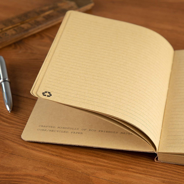 Personalisiertes Notizbuch f/ür M/änner und Frauen Geburtstagsgeschenke f/ür sie und ihn Notizbuch mit Eco freundlichem Korkeinband und 80 Blatt Recyclingpapier mit Monogramm Initialen Gravur