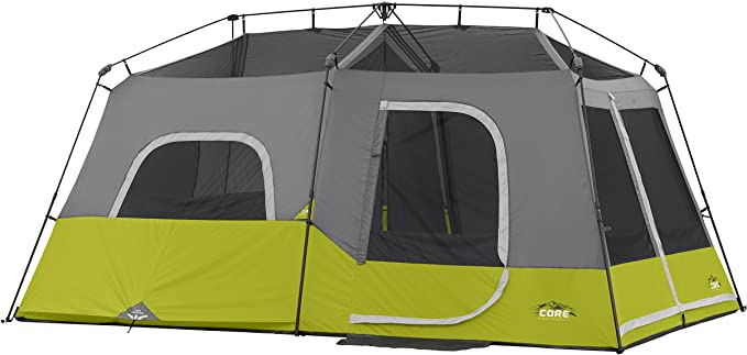 Core 9 Persons Instant Cabin Tent- Best Cabin Tents With Screened Porches