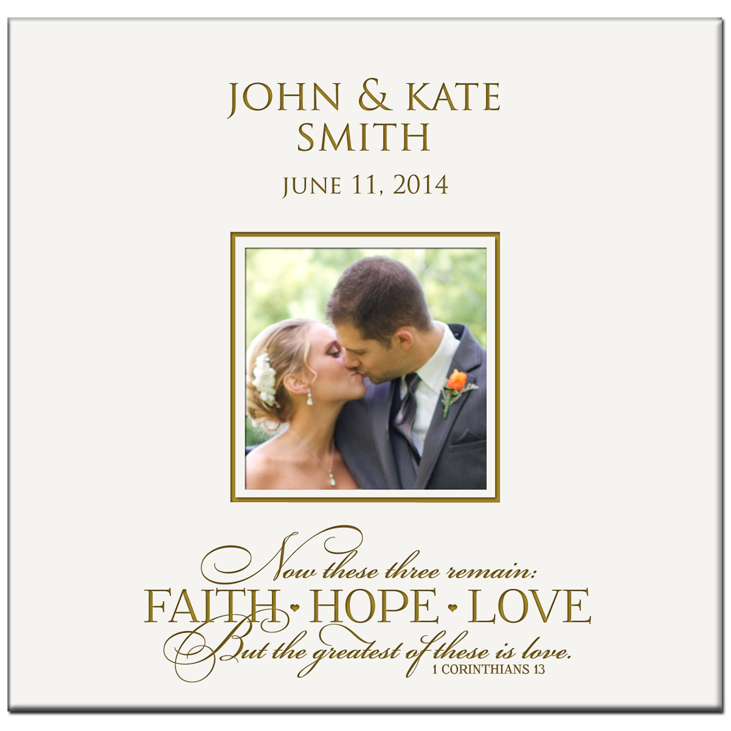 Personalized Wedding Anniversary Photo Album Now These Three Remain Faith Hope Love but the Greatest of These Is Love 1 Corinthians 13:13 Custom Engraved Holds 200 4x6 Photos Wedding Gift