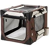 Karlie Smart Top de Luxe Hunde Transportbox, beige/braun