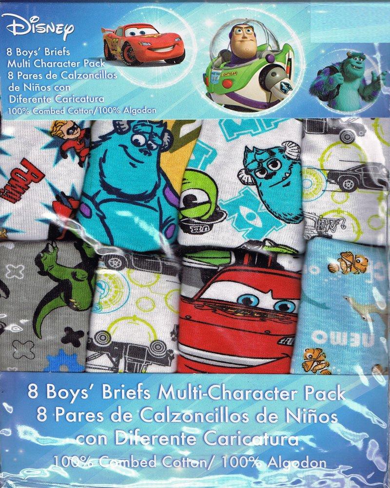 Size 4T Handcraft Disney 8 Pack Boys Briefs