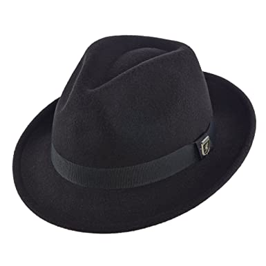 d606b3d3c3e165 STACY ADAMS Pinch Front Fedora HAT at Amazon Men's Clothing store: