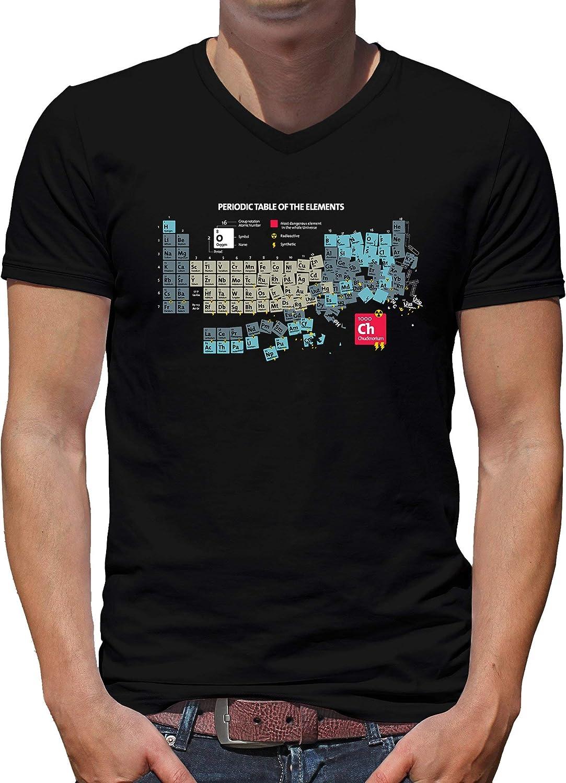 TShirt-People Chucknorium Chuck Sheldon Norris Element - Camiseta con cuello en V para hombre
