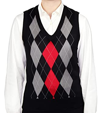 Blue Ocean Ladies Argyle Sweater Vest at Amazon Women's Clothing ...