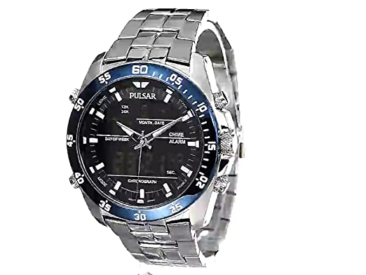 Amazon.com: Pulsar Mens PW6013 Analog Display Japanese Quartz Silver Watch: Watches