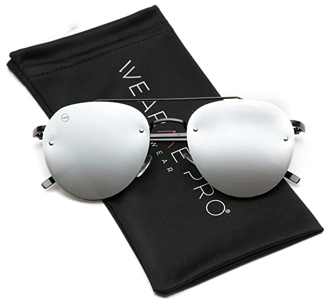 2bf599eb69 Image Unavailable. Image not available for. Color  WearMe Pro - New Round  Aviator Design Metal Frame Designer Inspired Sunglasses